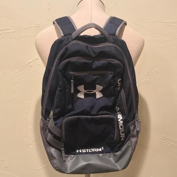 Under Armour Bags   Storm1 Heat Gear Backpack Navy Blue   Poshmark a5abd66cae